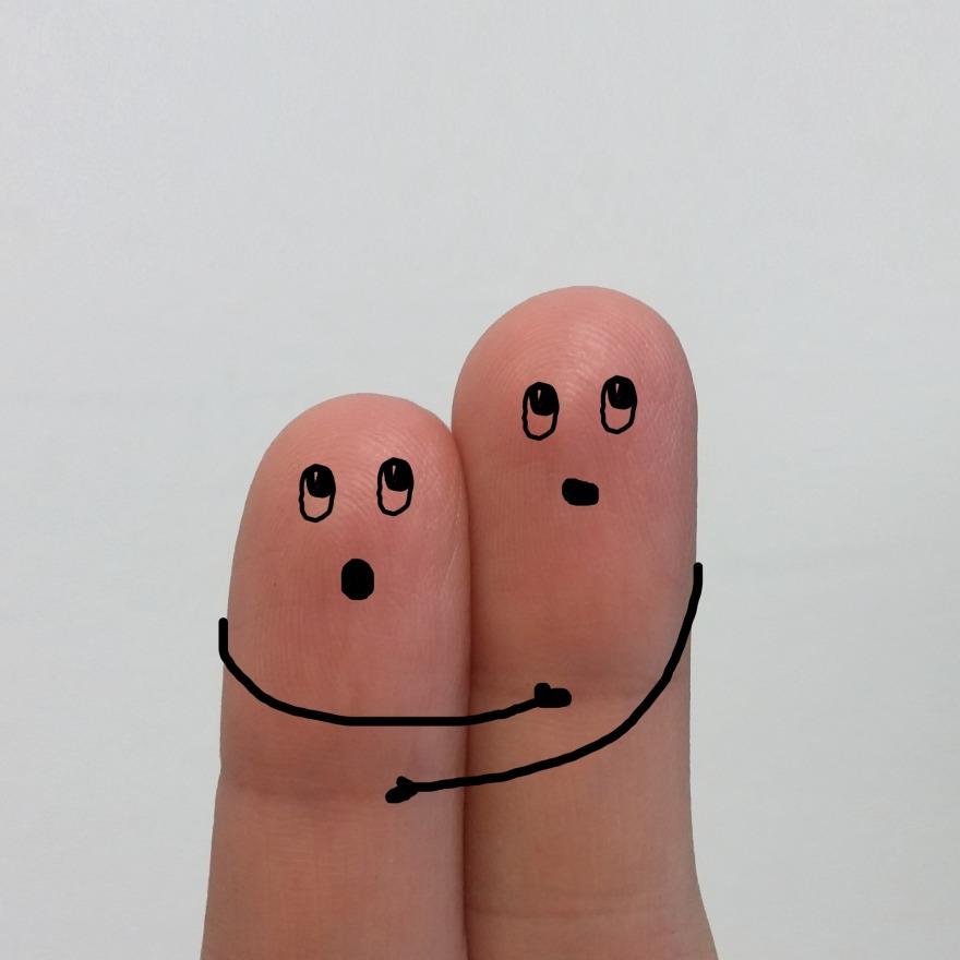palce,przytulać,strach